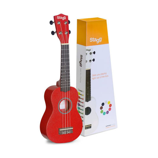 Picture of Ukulele Soprano Stagg US-RED